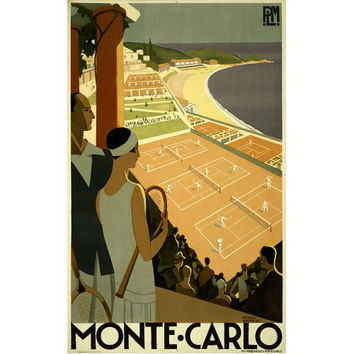 Monte Carlo Travel Poster Art Deco Print