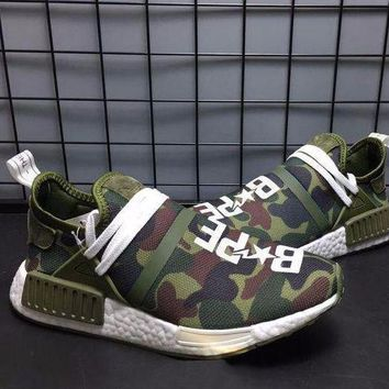 VON3TL Sale Bape x Pharrell Williams x Adidas PW HU Human Race NMD XR1 Green Boost Sport Running Shoes Classic Casual Shoes Sneakers