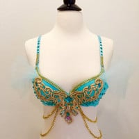 Princess Jasmine, Version 1, Costume, Rave Bra, EDC outfit, halloween Costume