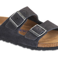 Arizona Soft Footbed Velvet Gray Suede Sandals | Birkenstock USA Official Site
