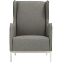 Study Oyster Wingback Chair