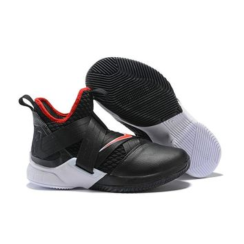 Nike LeBron Soldier 12 Bred Black White Red - Best Deal Online