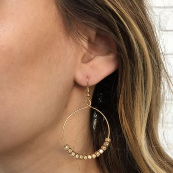 Happy Day Hoop Earrings in Gold
