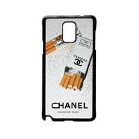 Girly White Glitter Chanel Cigarettes Packet For Samsung Galaxy Note 2/Note 3/Note 4/Note 5/Note Edge Phone case ZG