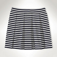 Ralph Lauren Childrenswear 7-16 Pleated Striped Skirt - Pink