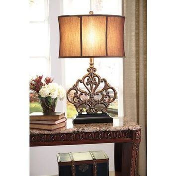 L511964 Broderick Poly Table Lamp (1/CN) - Antique Copper Finish - Free Shipping!