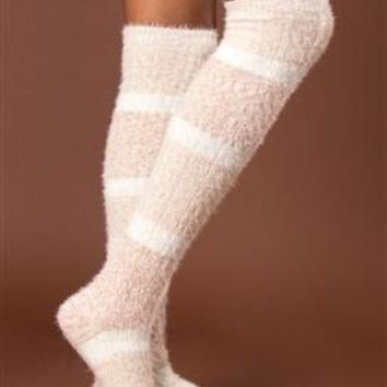 Feather Weather Tall Socks by Simply Noelle