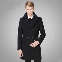 Double Breasted High Quality Men's Fashion Wool Coat