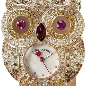 Betsey Johnson Women's BJ00555-04 Analog Display Quartz Brown Watch