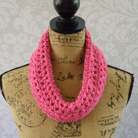 Ready To Ship Infinity Scarf Pink Women's Accessory Infinity Spring Cowl Scarf