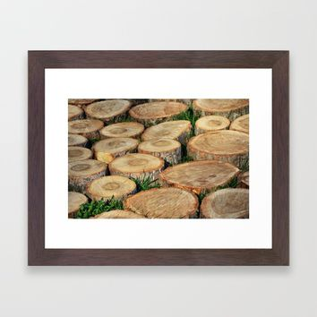 Wood mosaic Framed Art Print by ArtGenerations