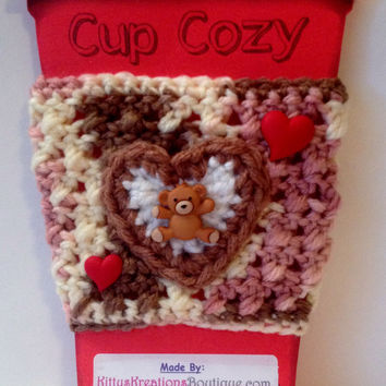 Valentine's Day Coffee/ Sippy Cup Cozy's - 3 Types Available