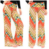 Blurred Lines Coral Palazzo Pants