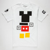 Neff Disney Collection Mickey Blocks Mens T-Shirt White  In Sizes