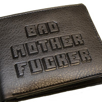 Black Embossed Bad Mother Fucker Wallet