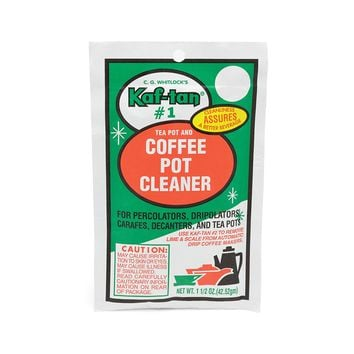 Kaf-Tan #1 Tea & Coffee Pot Cleaner / Stain Remover - 1.5 Ounce Packet