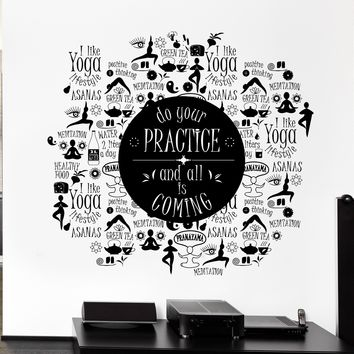 Wall Sticker Vinyl Decal Zen Meditation Yoga Poses Healthy Lifestyle Unique Gift (ed431)