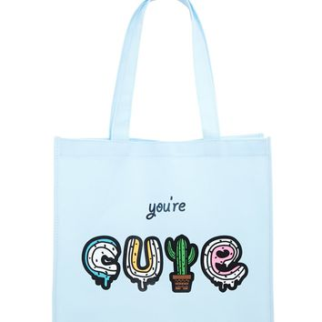 Youre Cute Graphic Tote Bag