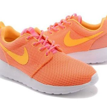 CUPCUP0 Nike Roshe Run Shoes Orange/yellow Women - Ready Stock Online