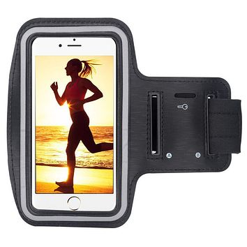Waterproof Gym Sports Running Arm Band Pouch Phone Case Cover + Key Holder for IPhone5 5S 5C SE 6 6s 7 plus for Huawei SAMSUNG