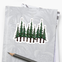 'The Evergreens' Sticker by NINUNO