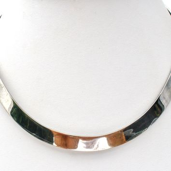 Mexican Collar Necklace Sterling Silver Vintage