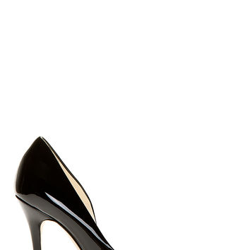 Brian Atwood Black Patent Asymmetric Patty Pumps