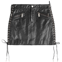 Dsquared2 - Leather Skirt