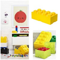 Kids Play Room Large LEGO Stackable Storage Bricks