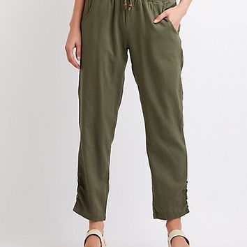Smocked Cropped Pants | Charlotte Russe