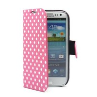 PhoneAdventures Flip Polka Dots Leather Case with Stand for AT&T, Verizon, Sprint, T-mobile Samsung Galaxy S3 - Pink:Amazon:Cell Phones & Accessories