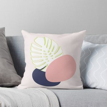 'Spring Monstera #redbubble #spring' Throw Pillow by designdn