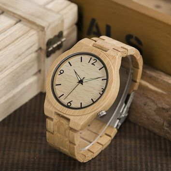 2017 Logo Custmized BOBO BIRD Natural Bamboo Wooden Watches Men Japan Movement Clock relogio masculino B-D27