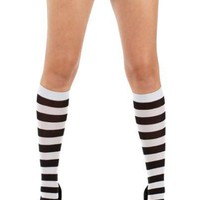 Twickers [Black-Silver] | KNEE HIGH SOCKS