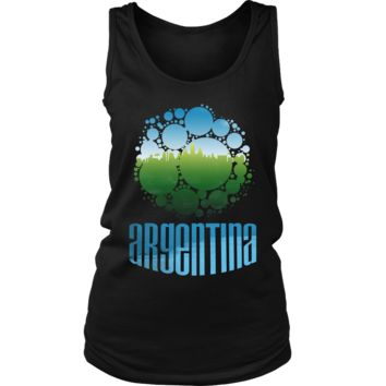 Argentina Skyline Horizon Sunset Love Country Women's Tank