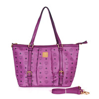 shosouvenir :MCM Women Shopping Leather Handbag Tote Satchel Shoulder Bag
