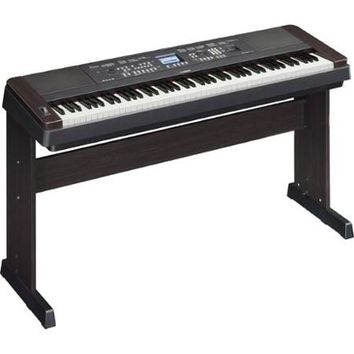 Yamaha DGX-650 88-Key Graded Hammer Action Digital Piano (Black) with Headphones, Dust Cover, Piano Bench, and FastTrack Keyboard Method Starter Pack - Walmart.com