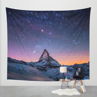 mountain view Wall Tapestry by ''B OGiatzi.
