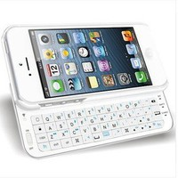 Bestgoods — Cool White Sliding Bluetooth Wireless Keyboard Case Cover For Iphone 4/4s/5
