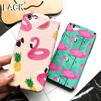 LACK Flamingos Phone Case For iphone 6 Case Cartoon Fruit Animal Cover Fashion Heart Camera Window Cases For iphone 6S 6 PLus