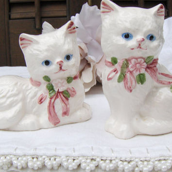 Vintage Cat Salt & Pepper Shakers Kitten Lovers Gift