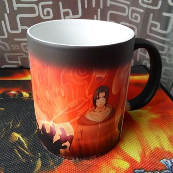 Naruto mug Sasuke vs Itachi Uchiha Heat Temperature Sensitive Color Changing Coffee Tea Mug Cup best gift for your friends