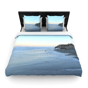 "Robin Dickinson ""Sand Surf Sunshine"" Beach Woven Duvet Cover"