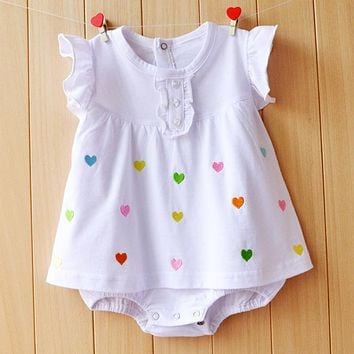 Baby Girl Clothes 2017 Summer Baby Girls Rompers Cotton Newborn Baby Clothes Cute Infant Baby Dress Flower Kids Clothing