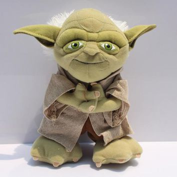1Pcs 8inch 20cm Yoda Plush Toys Star Wars Character Master Yoda Plush Toy Stuffed Plush Soft Doll Great Gift Free Shipping
