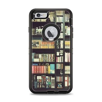 The Vintage Bookcase V2 Apple iPhone 6 Plus Otterbox Defender Case Skin Set