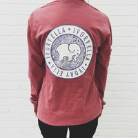 Dusty Rose Campus Long Sleeve Tee