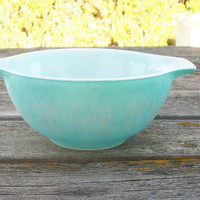 Vintage Pyrex Mixing Bowl Amish Butterprint Blue Cinderella Bowl