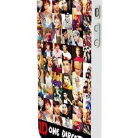 One Direction Collection Custom Case for Iphone 5/5s Iphone 6/6 Plus Black and White (iPhone 5/5s White Plastic)