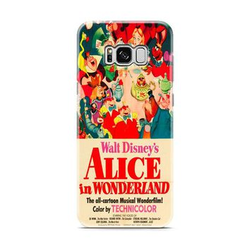 Old Disney Posters Alice In Wonderland Samsung Galaxy S8 | Galaxy S8 Plus case